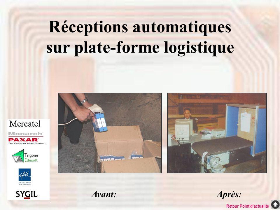 Réceptions automatiques sur plate-forme logistique