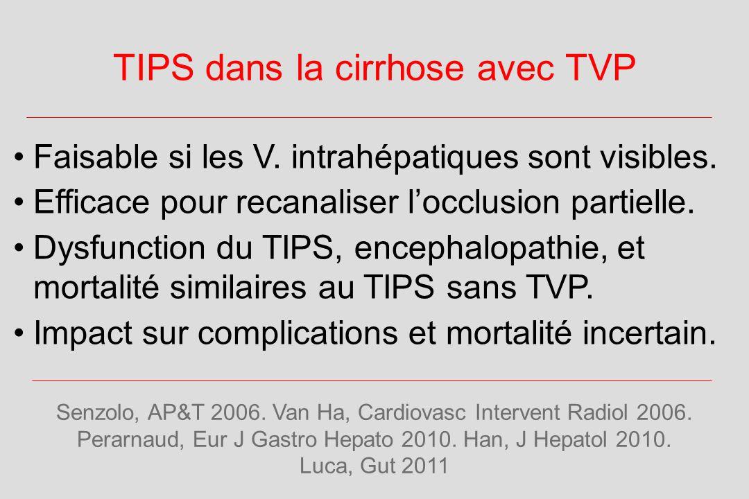TIPS dans la cirrhose avec TVP