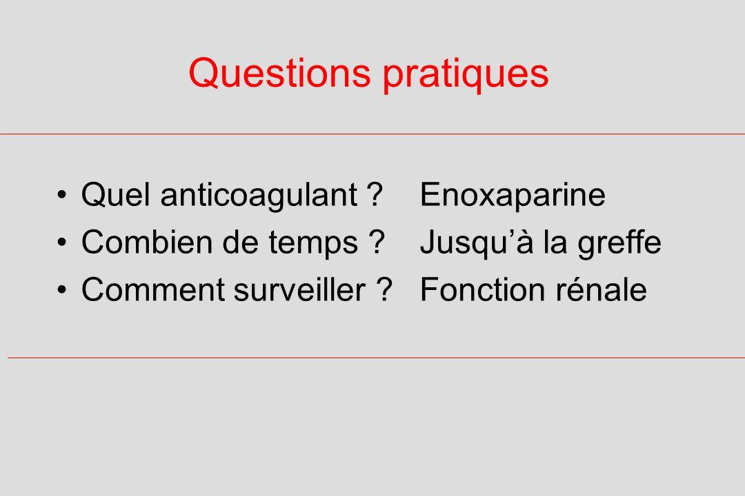 Questions pratiques Quel anticoagulant Enoxaparine