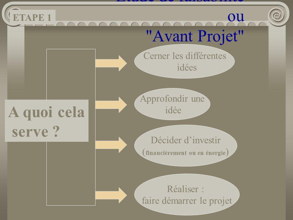 Étude de faisabilité ou Avant Projet