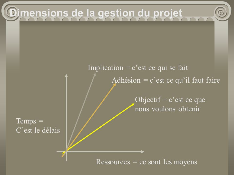 Dimensions de la gestion du projet
