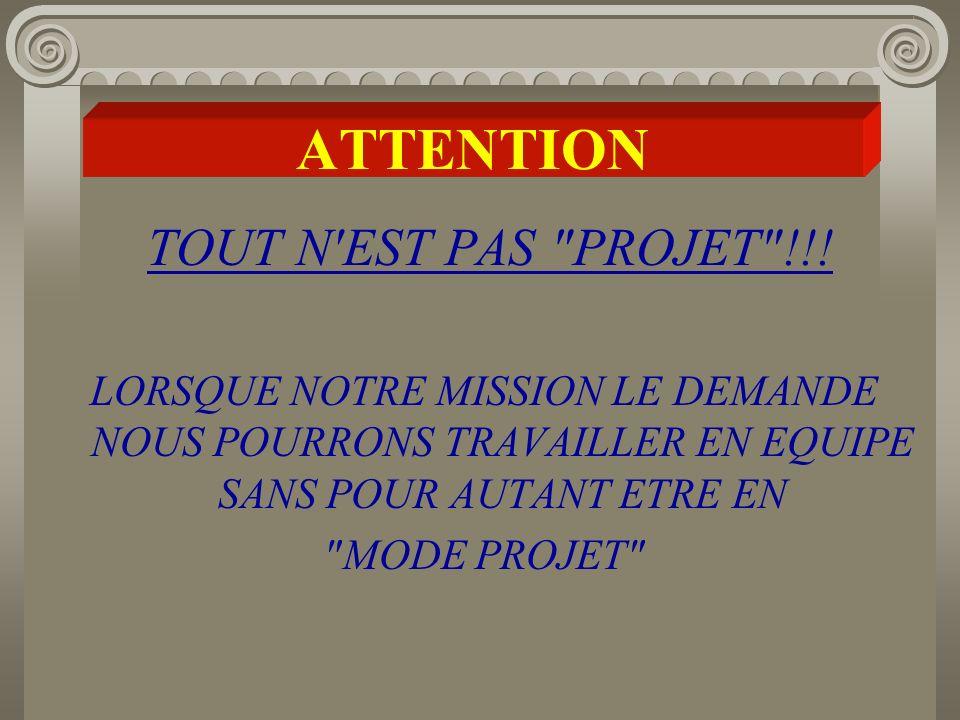 ATTENTION TOUT N EST PAS PROJET !!!