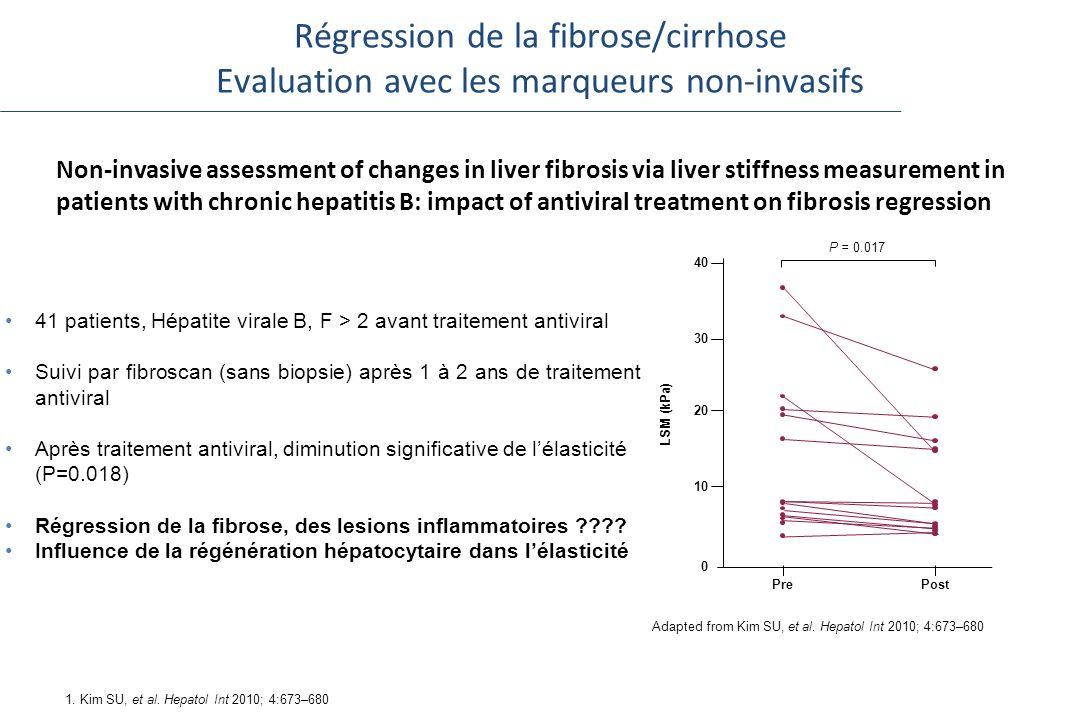 Régression de la fibrose/cirrhose Evaluation avec les marqueurs non-invasifs
