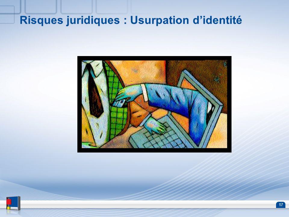 Risques juridiques : Usurpation d'identité