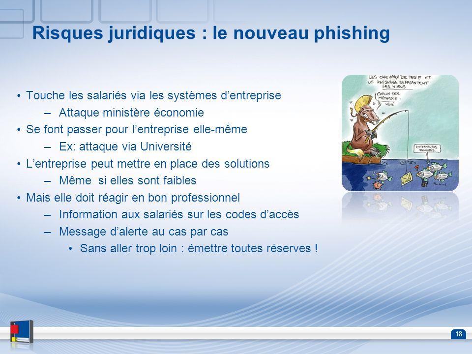 Risques juridiques : le nouveau phishing