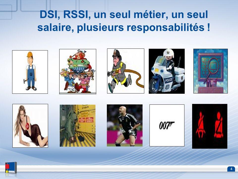 DSI, RSSI, un seul métier, un seul salaire, plusieurs responsabilités !