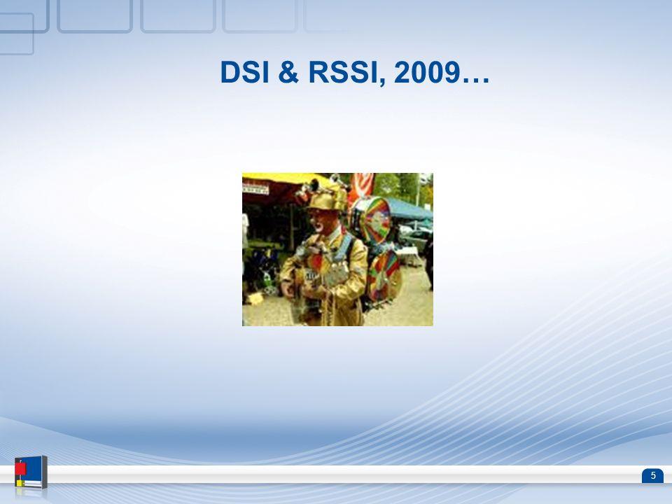 DSI & RSSI, 2009…