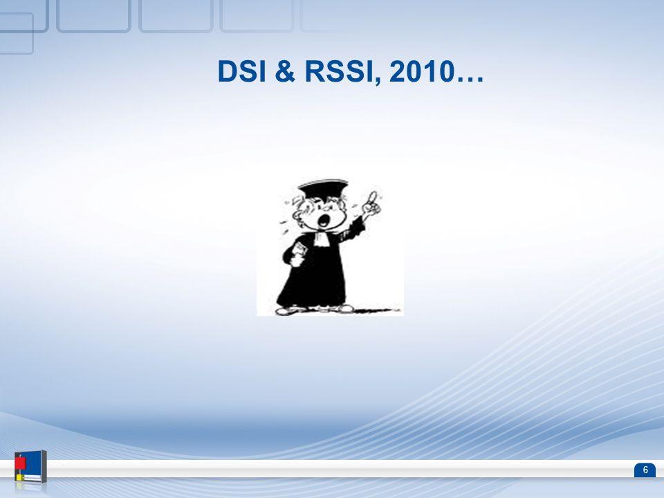 DSI & RSSI, 2010…