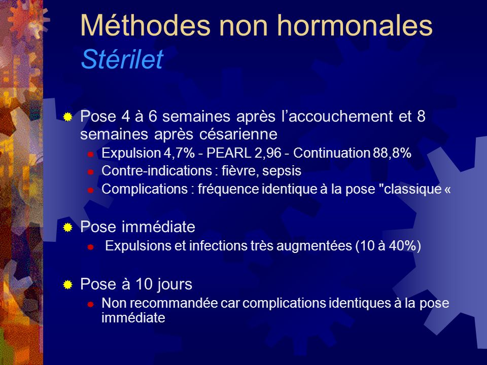 Méthodes non hormonales Stérilet