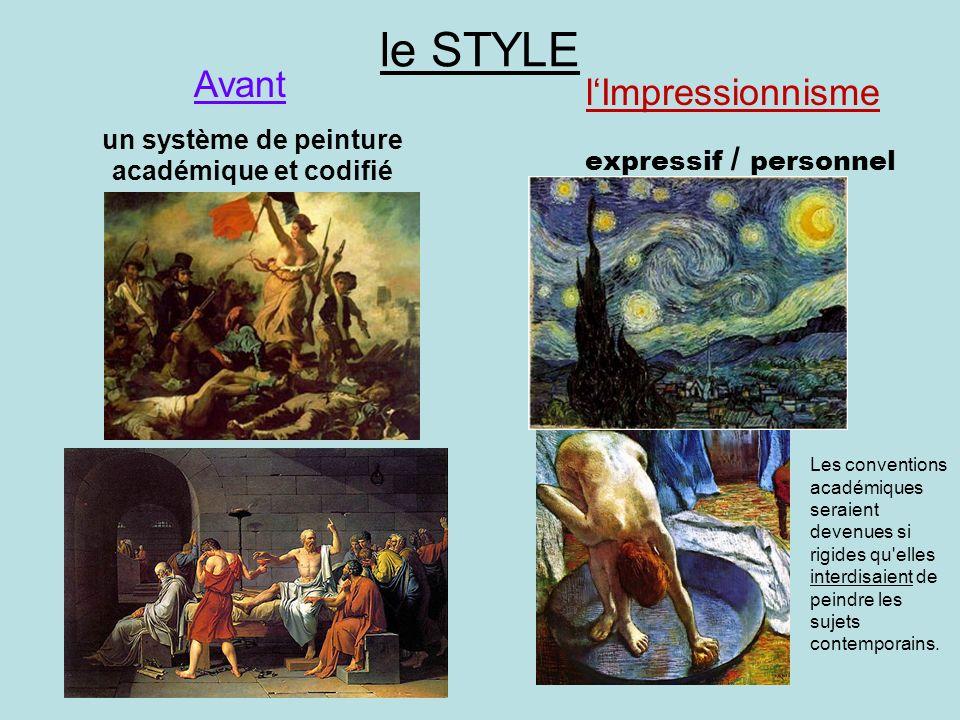 un système de peinture académique et codifié