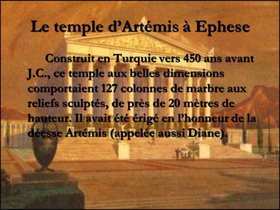 Le temple d'Artémis à Ephese
