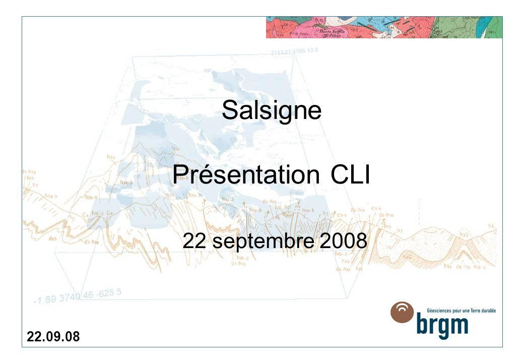 Salsigne Présentation CLI 22 septembre 2008