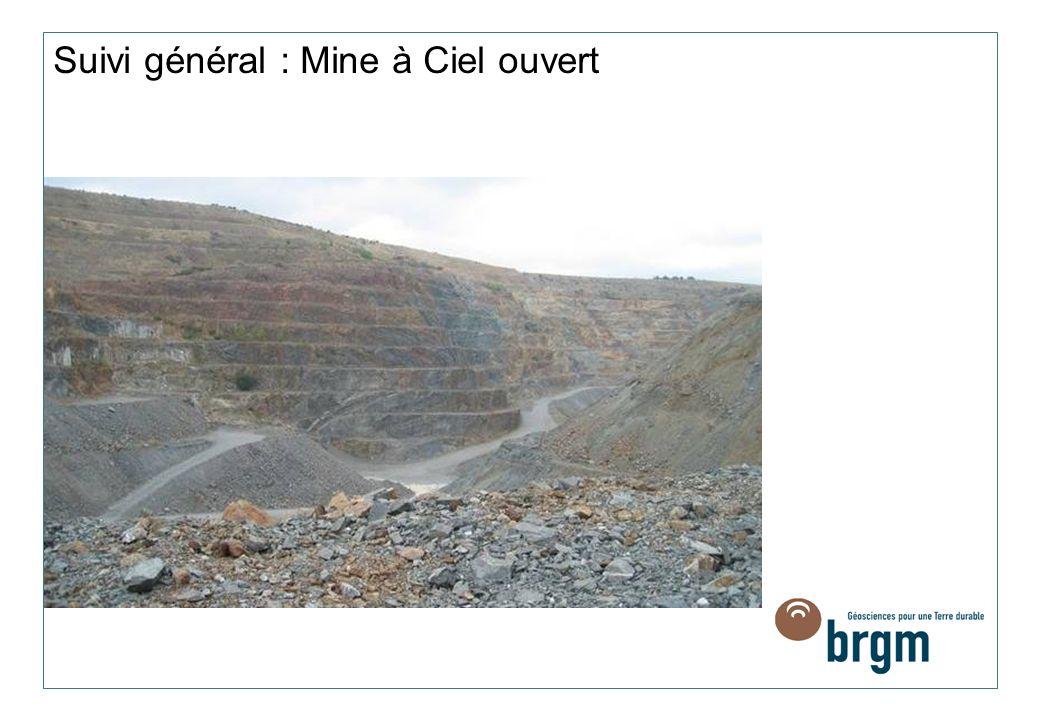 Suivi général : Mine à Ciel ouvert
