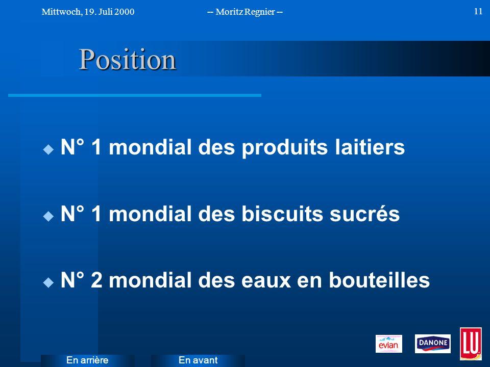 Position N° 1 mondial des produits laitiers