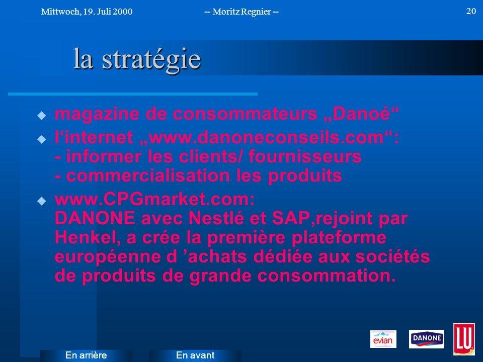 """la stratégie magazine de consommateurs """"Danoé"""