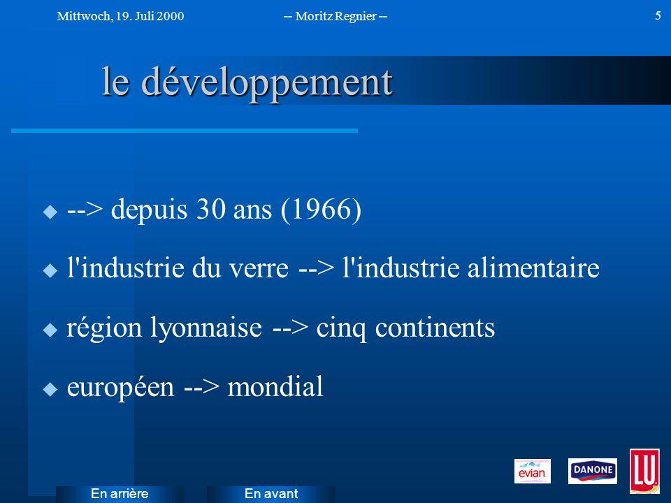 le développement --> depuis 30 ans (1966)