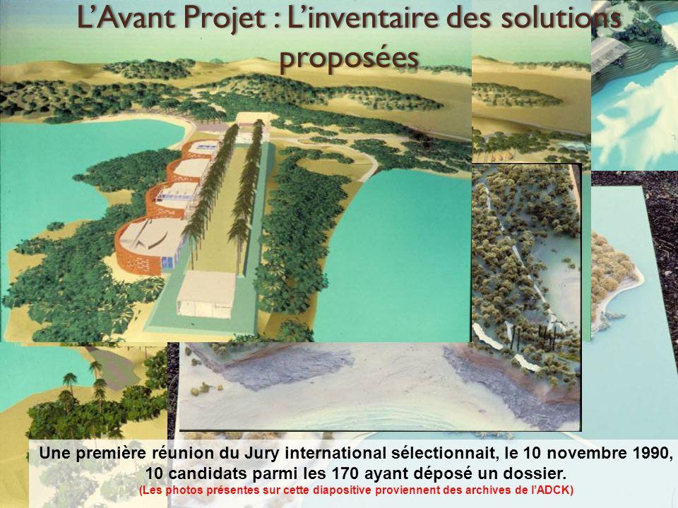 L'Avant Projet : L'inventaire des solutions proposées