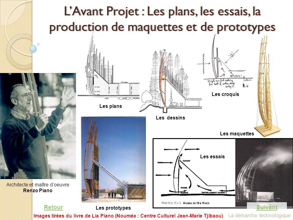 L'Avant Projet : Les plans, les essais, la production de maquettes et de prototypes