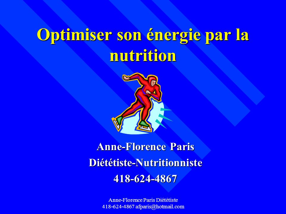 Optimiser son énergie par la nutrition