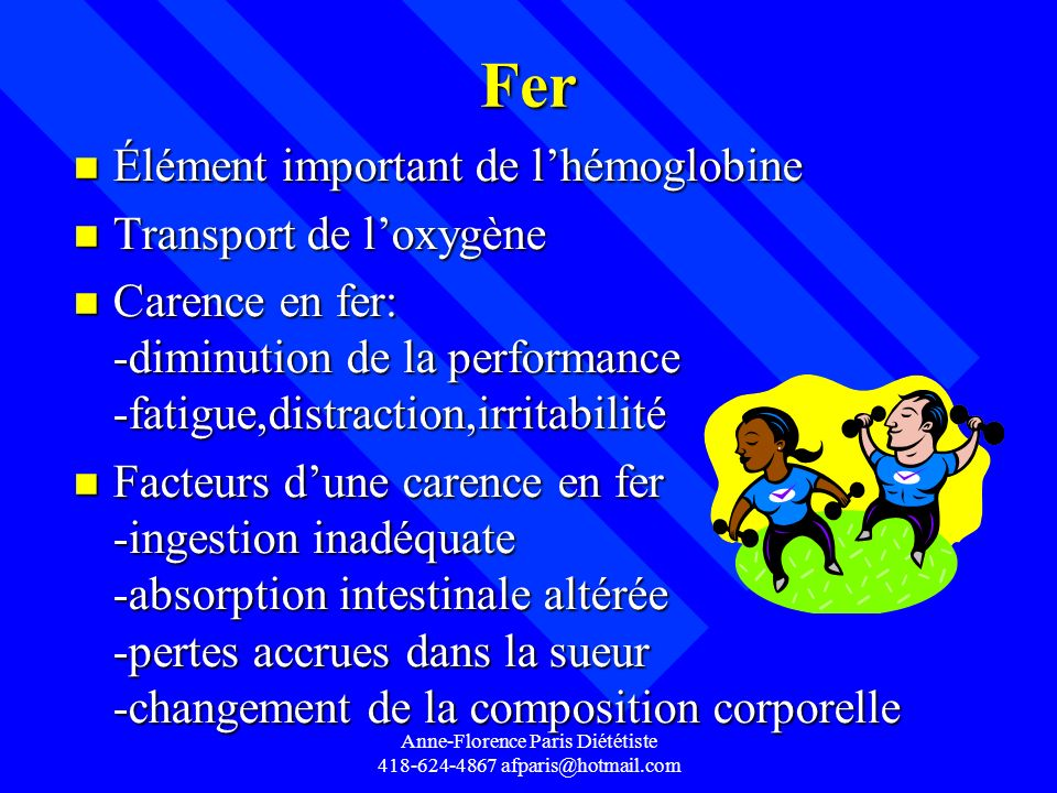 Anne-Florence Paris Diététiste 418-624-4867 afparis@hotmail.com