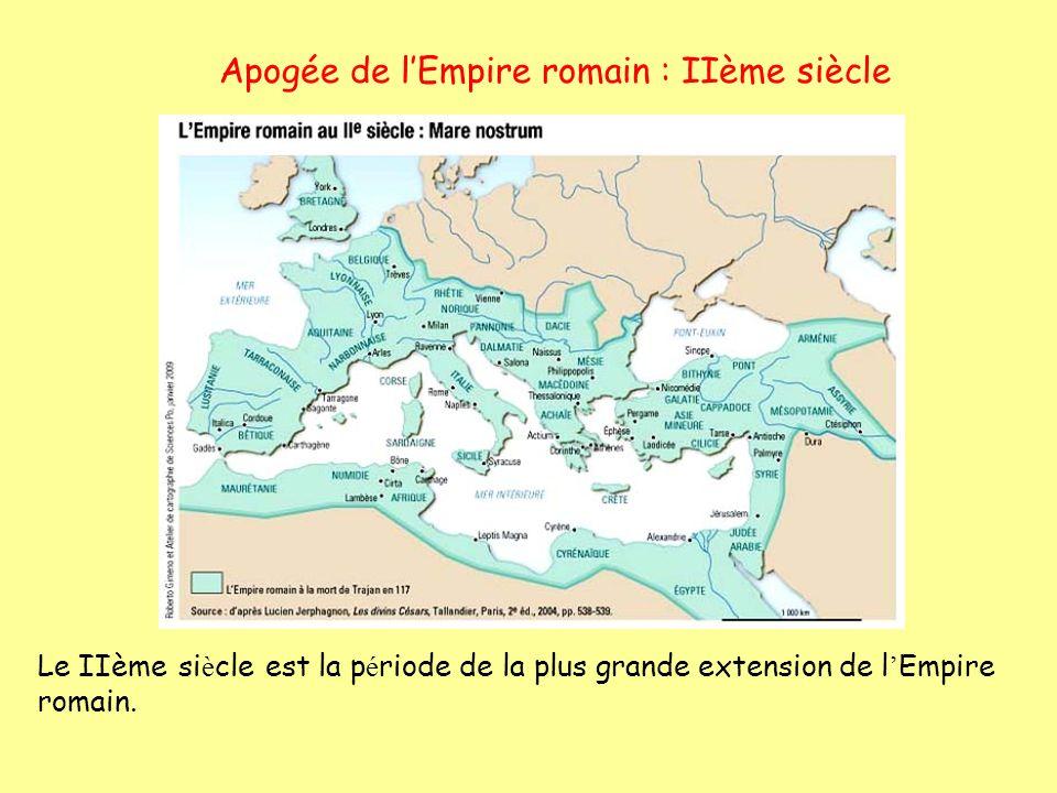 Apogée de l'Empire romain : IIème siècle