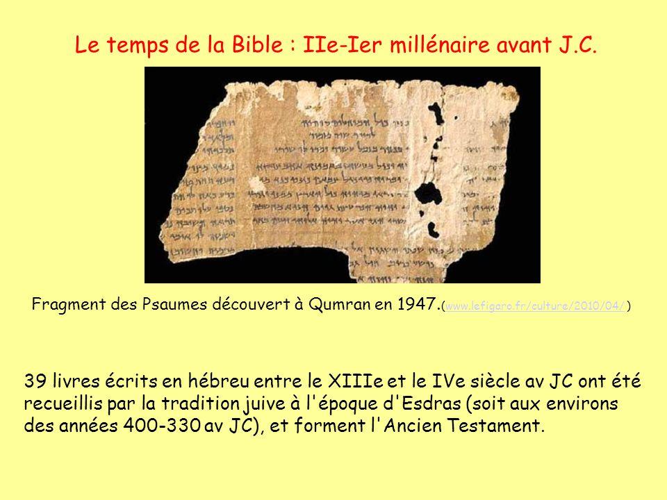 Le temps de la Bible : IIe-Ier millénaire avant J.C.
