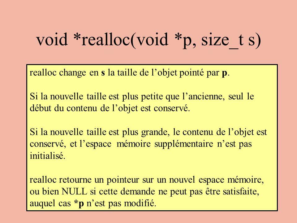 void *realloc(void *p, size_t s)