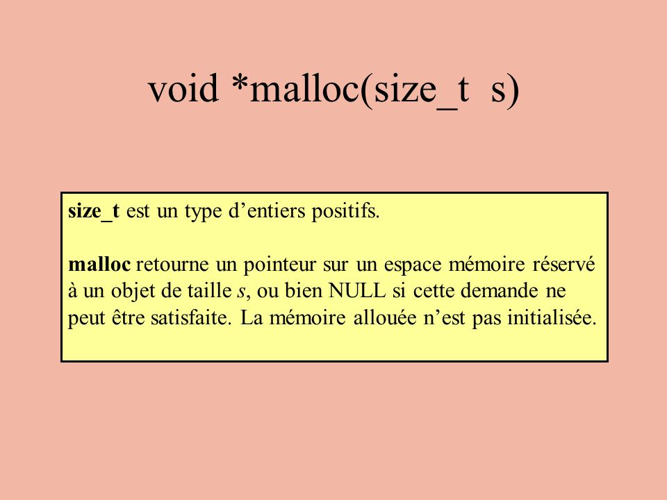 void *malloc(size_t s)