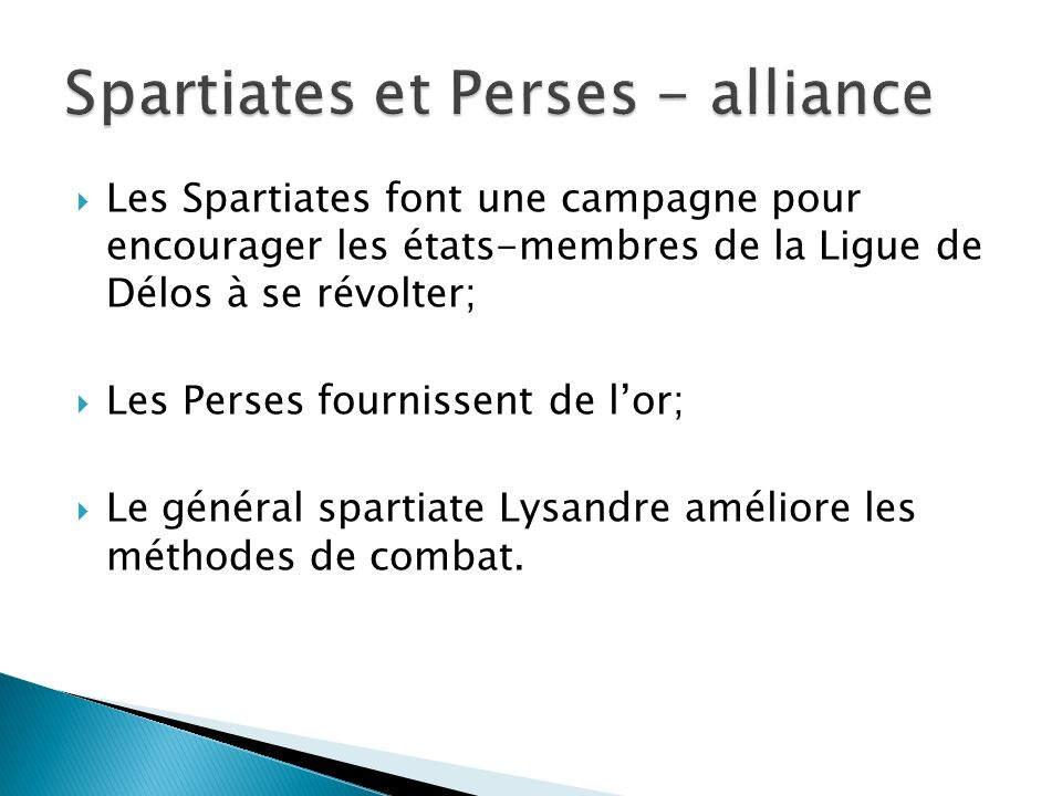 Spartiates et Perses - alliance