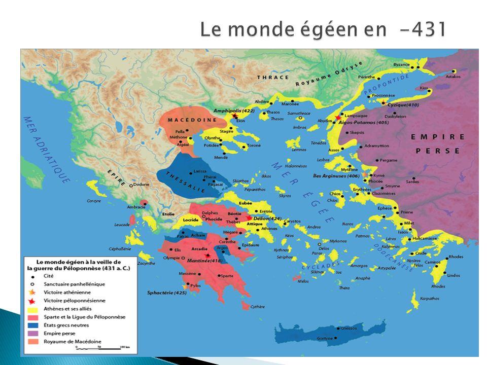 Le monde égéen en -431