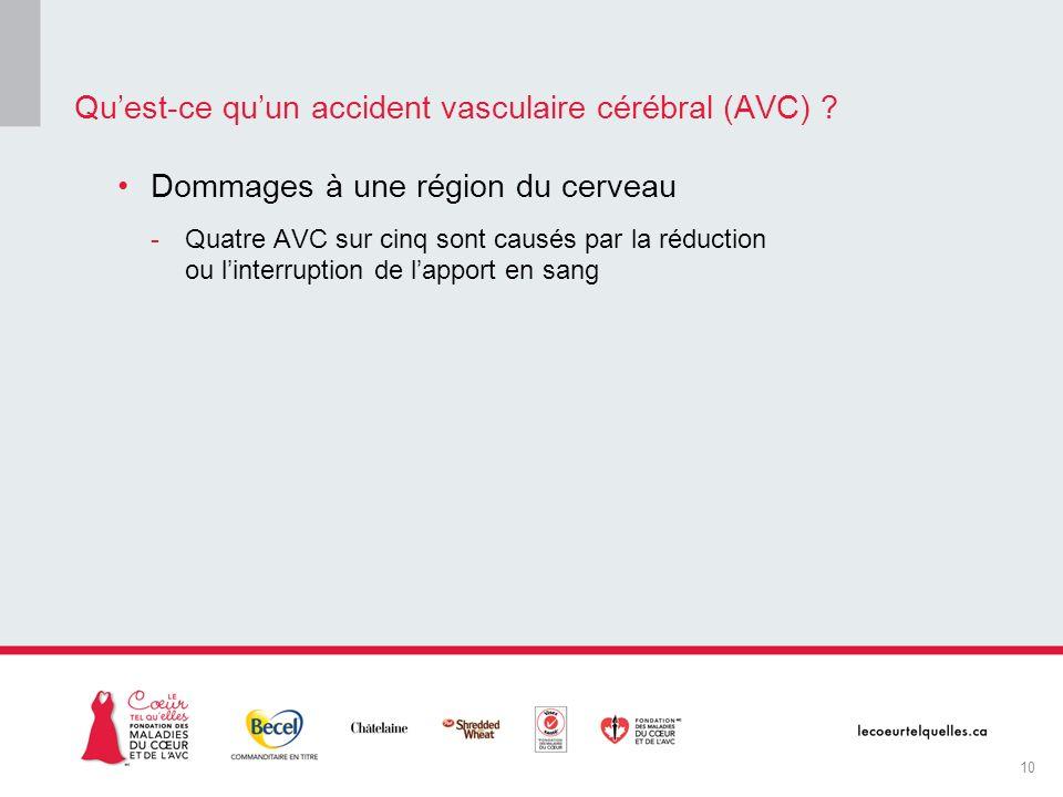 Qu'est-ce qu'un accident vasculaire cérébral (AVC)