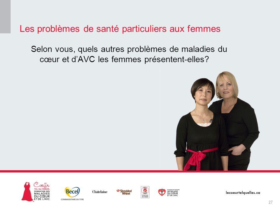 Les problèmes de santé particuliers aux femmes