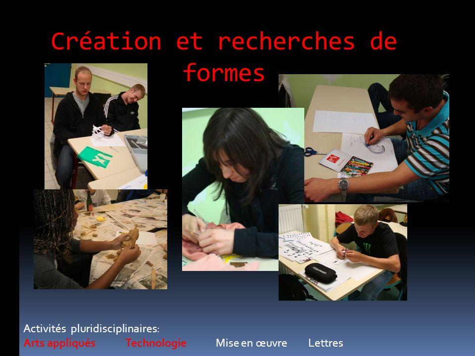 Création et recherches de formes