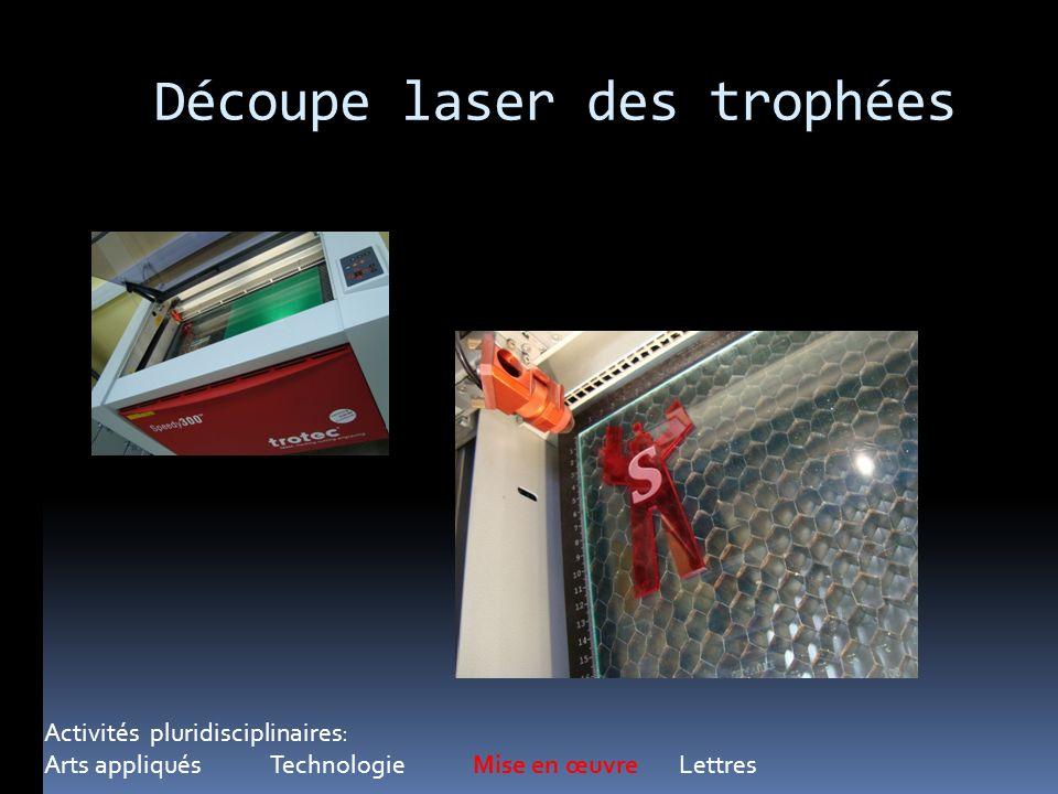 Découpe laser des trophées