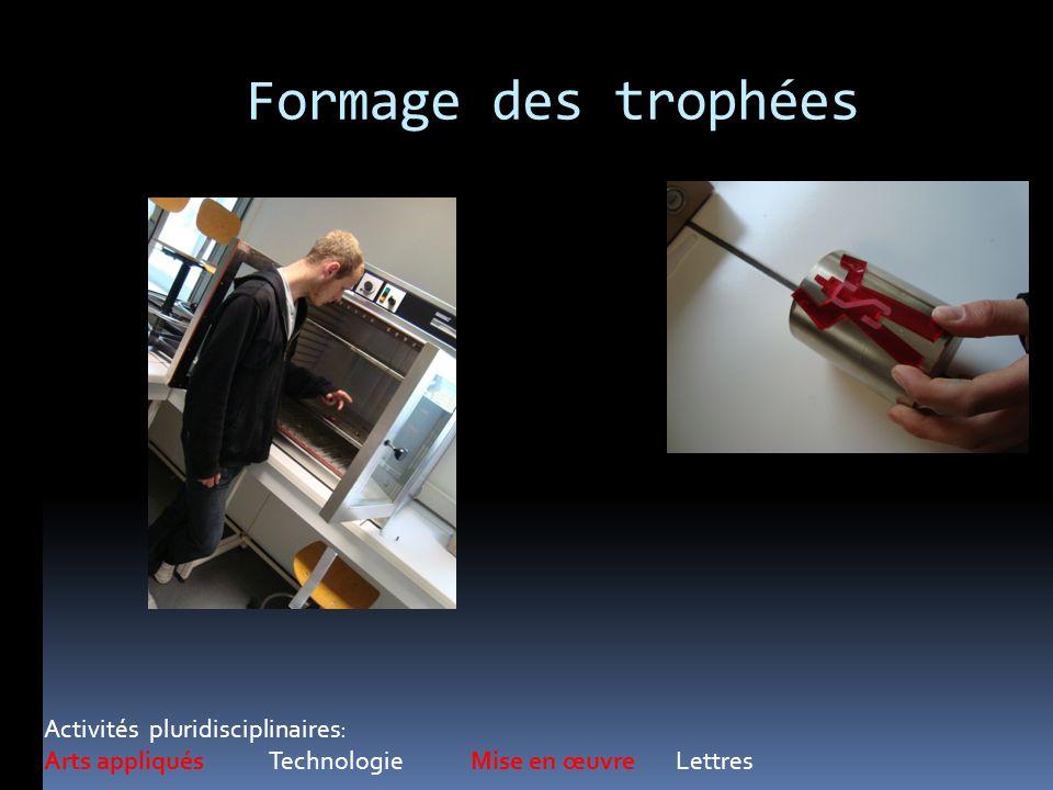 Formage des trophées Activités pluridisciplinaires: