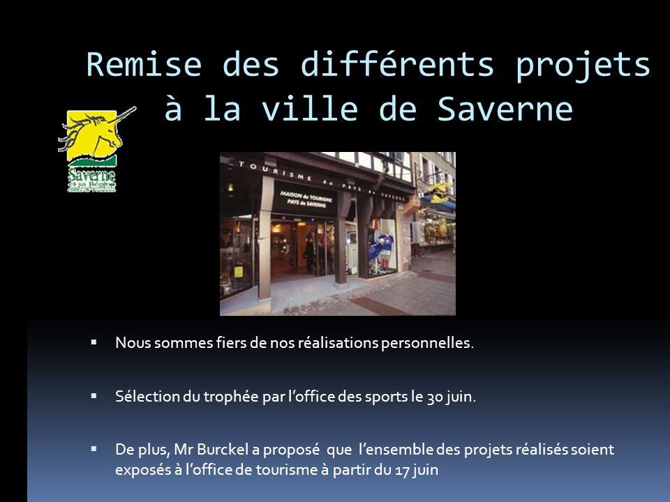 Remise des différents projets à la ville de Saverne