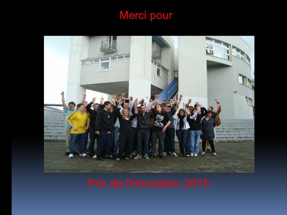 Merci pour Prix de l'innovation 2010
