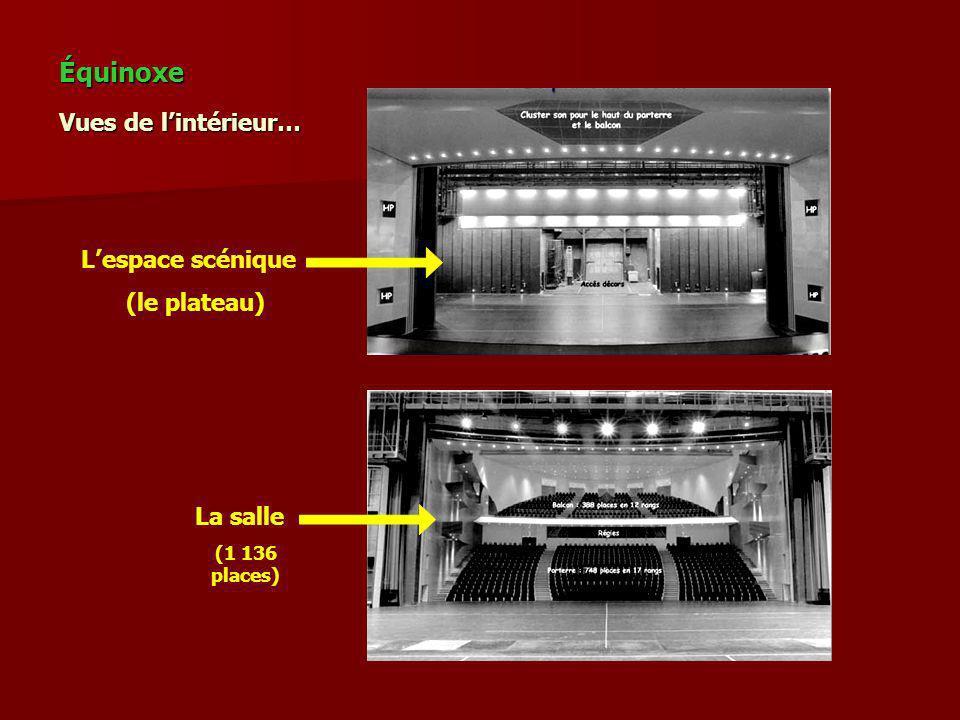 Équinoxe Vues de l'intérieur… L'espace scénique (le plateau) La salle