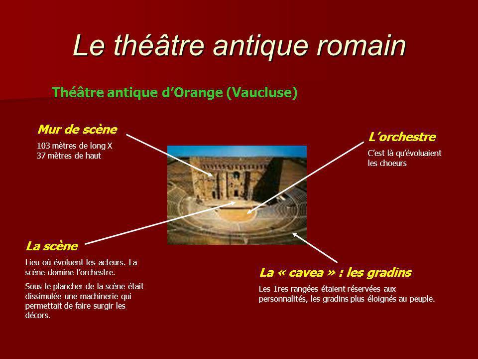 Le théâtre antique romain