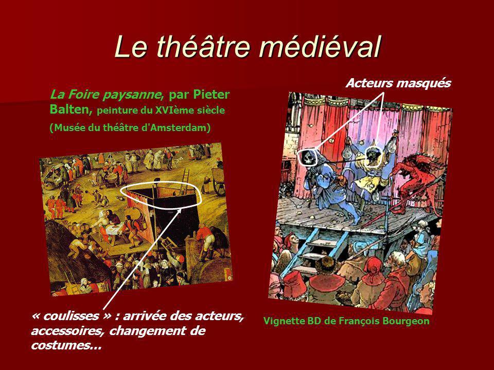 Le théâtre médiéval Acteurs masqués