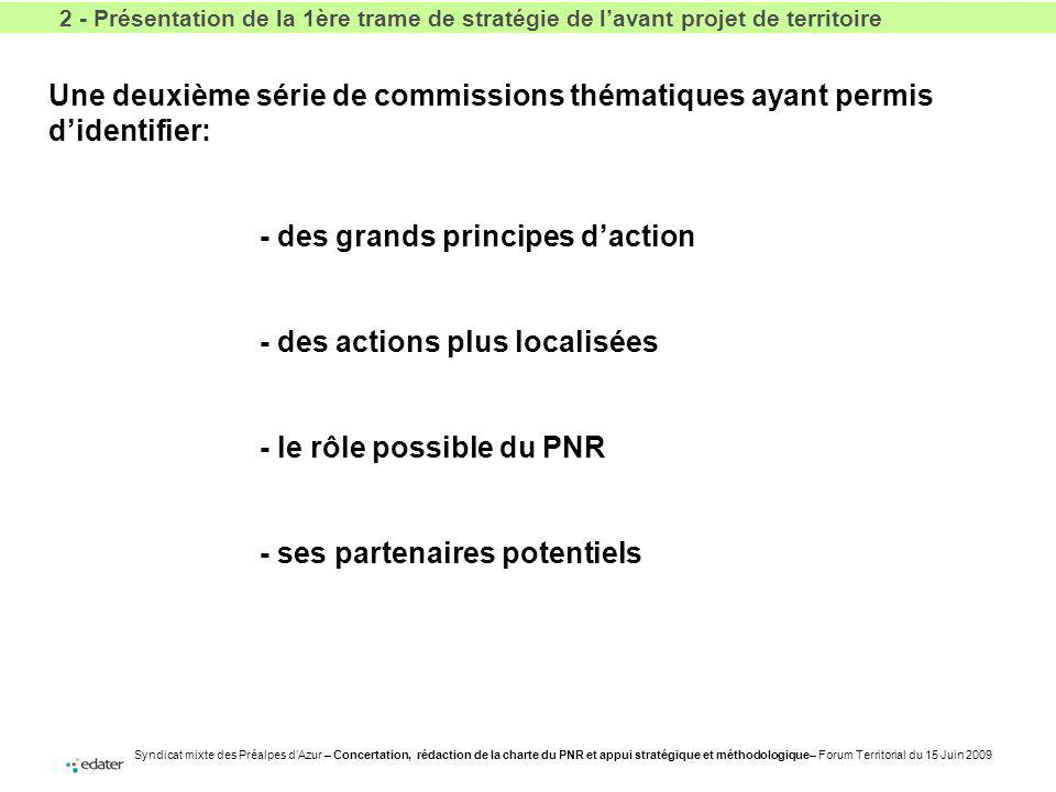 - des grands principes d'action