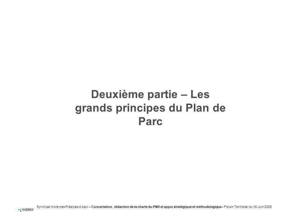 Deuxième partie – Les grands principes du Plan de Parc
