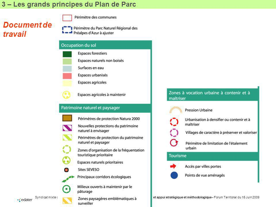 3 – Les grands principes du Plan de Parc