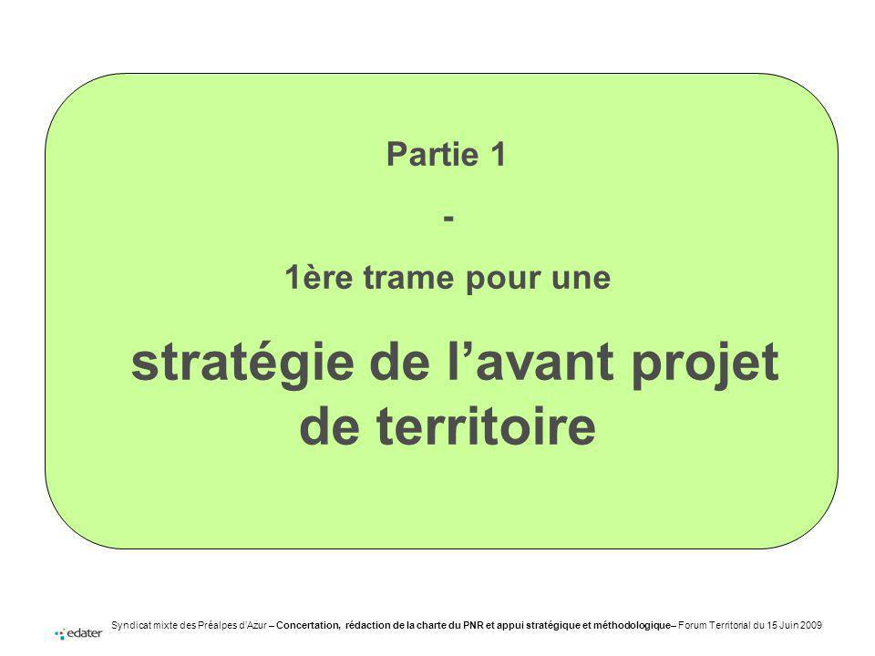 stratégie de l'avant projet de territoire