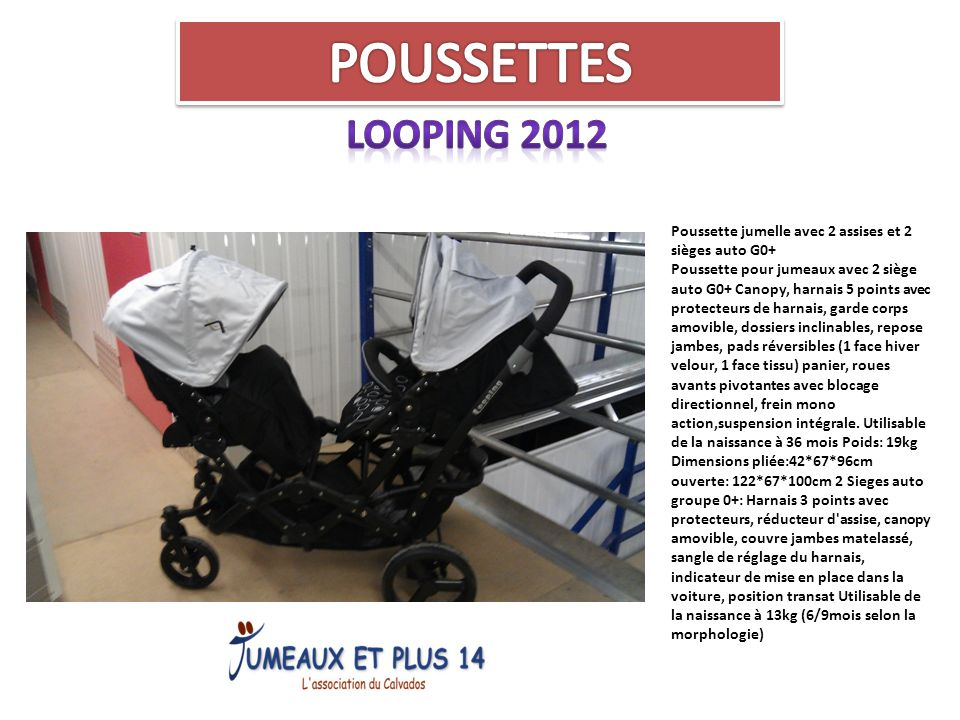 POUSSETTES LOOPING 2012.