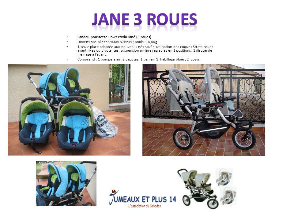 JANE 3 ROUES Landau poussette Powertwin Jané (3 roues)