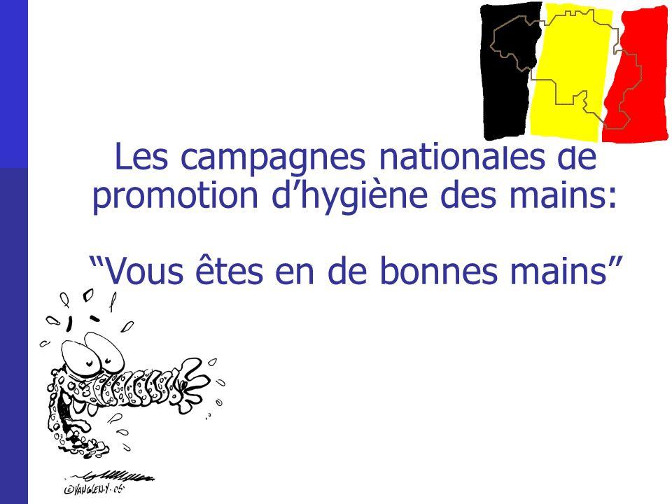 Les campagnes nationales de promotion d'hygiène des mains: