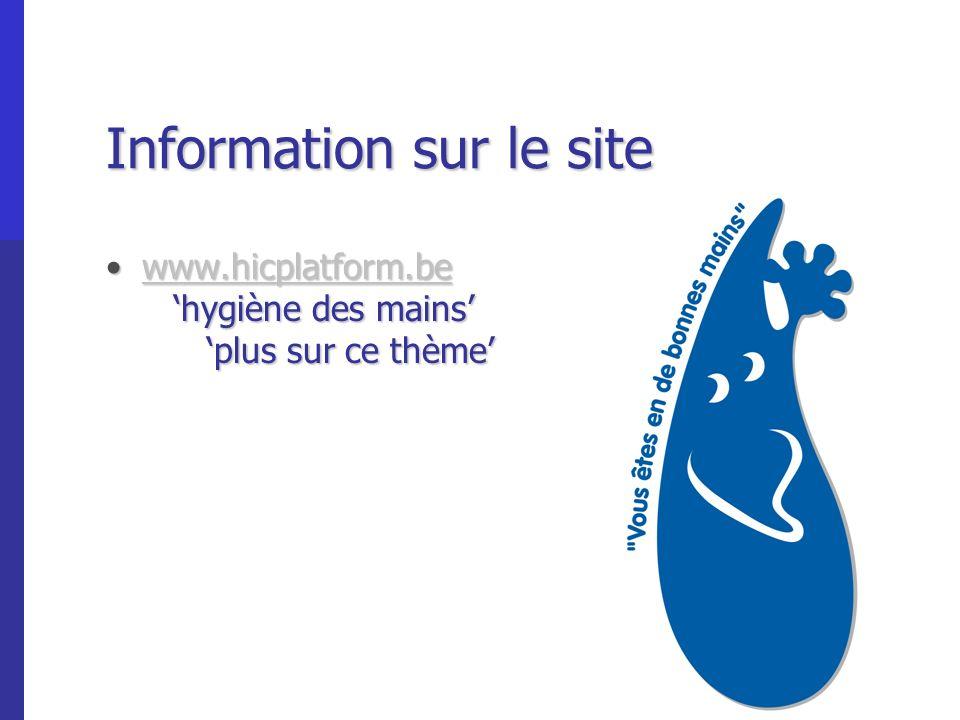 Information sur le site