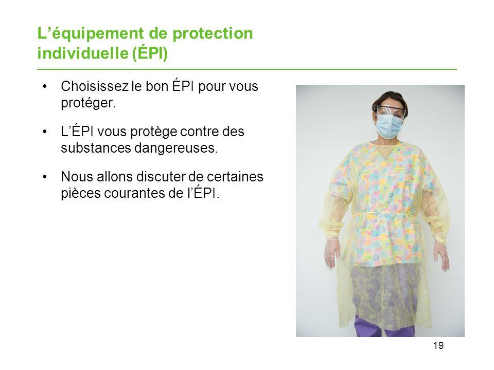 L'équipement de protection individuelle (ÉPI)