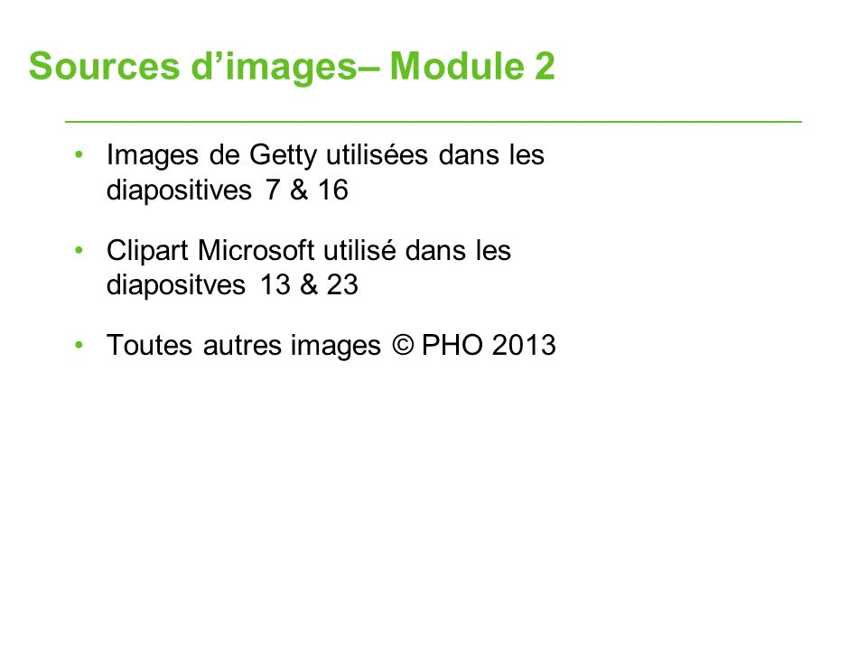 Sources d'images– Module 2